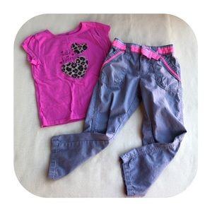6/$15 4T Oshkosh pants & jumping beans top